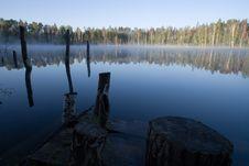 Free Lake At Sunrise Royalty Free Stock Photo - 2621855