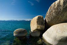 Free Sand Harbor Rocks Royalty Free Stock Image - 2622976