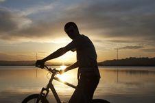 Sunset Biker Stock Photos