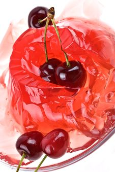 Free Jelly Sweet Cherry Background Stock Image - 2626431