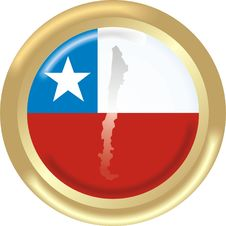 Chile Map And Flag Stock Photos