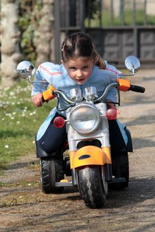 Free Girl In Motor-cycle Royalty Free Stock Photos - 2627368