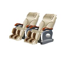 Double Massage Chair Stock Photography