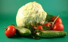 Cabbage And Vegetables Royalty Free Stock Photos