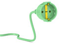 Free Green Power Plug Royalty Free Stock Image - 26200656