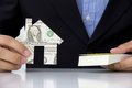 Free Hand Holding Banknote House Icon Stock Photo - 26202550