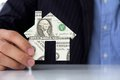 Free Hand Holding Banknote House Icon Royalty Free Stock Photo - 26204245