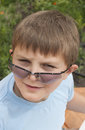 Free Portrait Of Boy &x28;10 Years&x29; Lh Sunglasses Stock Images - 26209344