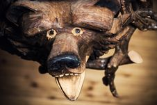 Free Wooden Bear Royalty Free Stock Images - 26206849