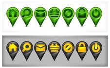 Free Set Of GPS Icons Royalty Free Stock Image - 26207856