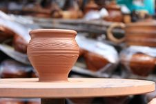 Free Clay Pot Spinning Royalty Free Stock Images - 26211259