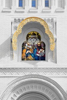 Mosaic Icon Of The Holy Apostles Royalty Free Stock Images