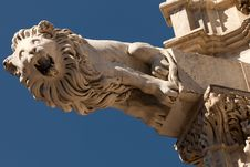 Gargoyle On The Facade Of The Siena Cathedral Stock Photography