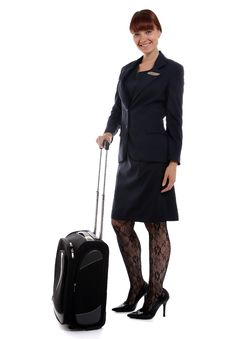 Free Happy Flight Attendant Royalty Free Stock Photography - 26213127