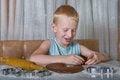 Free Boy Baking Cookies Royalty Free Stock Images - 26226379