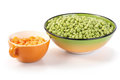 Free Carrots And Peas In Bowls Stock Images - 26227254