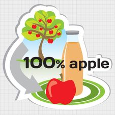 Free Circle Of Making Apple Juice Royalty Free Stock Photos - 26220178