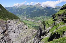 Free Gorge In Swiss Alps. Royalty Free Stock Photos - 26222678