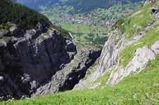 Free Gorge In Swiss Alps. Stock Photography - 26223082