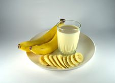 Free Banana And Banana Flavour Milk Stock Photos - 26223843