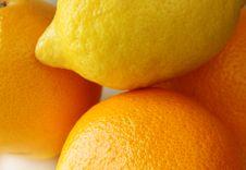 Free Lemon Orange Fruit Set Royalty Free Stock Photo - 26224055