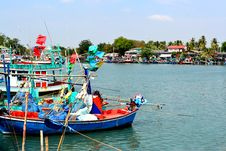 Free Colorful Fishing Boat In Thailand Stock Photos - 26224143