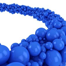 Free Blue Spheres Royalty Free Stock Images - 26225359