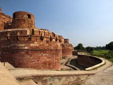 The Red Fort Of Agra In Uttar Pradesh, India. Royalty Free Stock Images