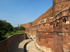 Agra Fort In Agra, Uttar Pradesh, India Stock Photo