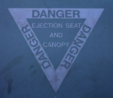 Free Ejection Seat Warning Sign Royalty Free Stock Photo - 26227625