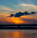 Free Sunset Over The River Royalty Free Stock Images - 26235979