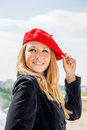 Free A Girl In A Red Hat Royalty Free Stock Photography - 26236697