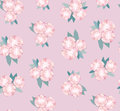 Free Seamless Texture With Gentle Pink Flowers Stock Photography - 26238052