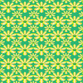 Free Vector Green Seamless Texture With Flowers Stock Photography - 26238062