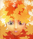 Free Girl In Autumn Leaves Royalty Free Stock Photo - 26238835