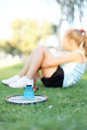 Free Girl With A Set Of Badminton In The Park Royalty Free Stock Photos - 26239978