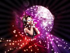 Free Girl On Disco Party Royalty Free Stock Images - 26238839
