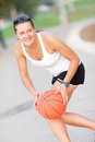 Free Athlete With The Ball Played Basketball Royalty Free Stock Photo - 26240165