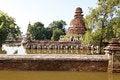 Free Floods Chaiwatthanaram Temple At Ayutthaya. Royalty Free Stock Photos - 26240388