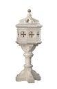 Free Old White Wooden Baptismal Isolated. Royalty Free Stock Photo - 26244995
