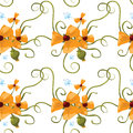 Free Seamless Pattern Of Orange Poppies Royalty Free Stock Photography - 26249537