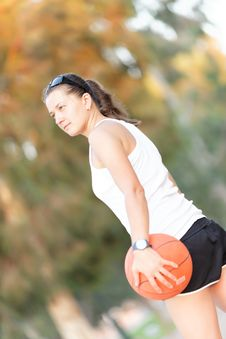 Athlete With The Ball Royalty Free Stock Images