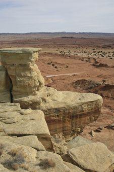 Rock In Utah Desert Royalty Free Stock Photography