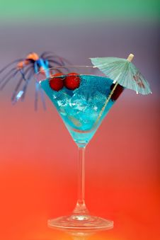 Free Cocktail With Ice And Umbrella Stock Photo - 26240660