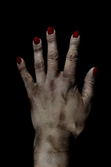 Free Bruised Dead Female Hand Photo Manipulation Royalty Free Stock Images - 26246149