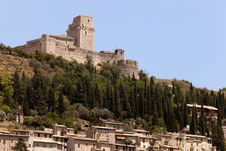 The Imperial Fortress Rocca Maggiore Royalty Free Stock Photos