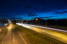 Free Night Road Of Korat Thailand Stock Photos - 26246903