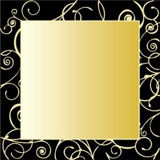 Free Gold Ornate Frame Stock Photography - 26252332
