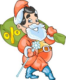 Buisness Santa Claus Stock Image