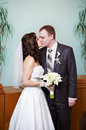Free Kiss Bride And Groom Royalty Free Stock Image - 26266866